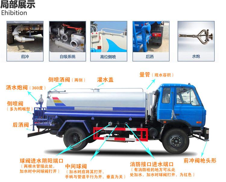 东风洒水车作业图
