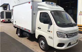 国六福田祥菱后双轮冷藏车厢长3.12米