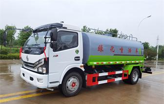 国六东风多利卡9.2吨洒水车