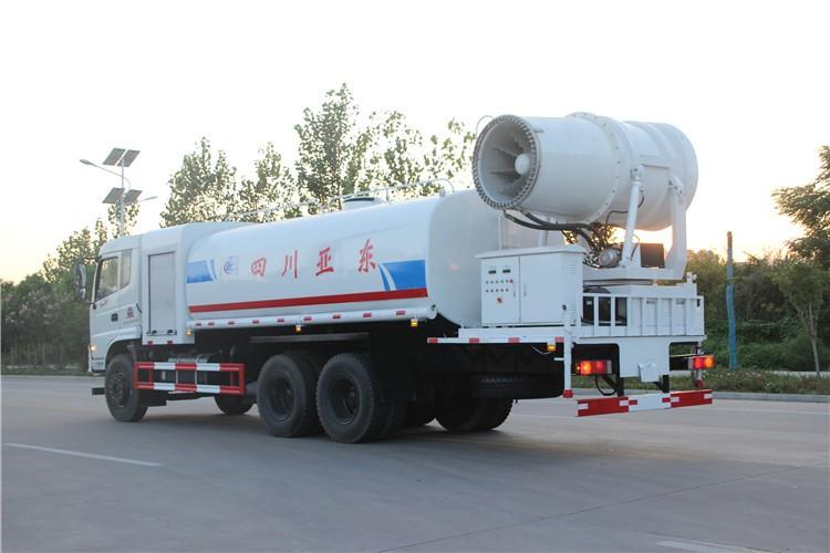 东风御龙17吨雾炮抑尘车多方位视角图片