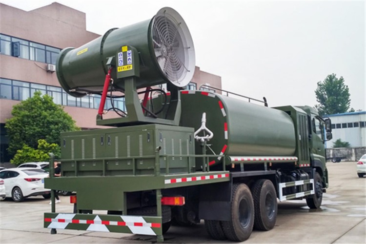 东风天龙16吨雾炮抑尘车多方位视角图片