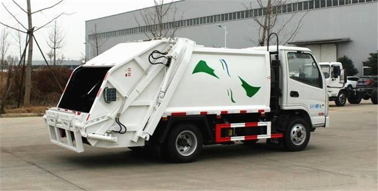 凯马蓝牌3方压缩垃圾车多方位视角图片