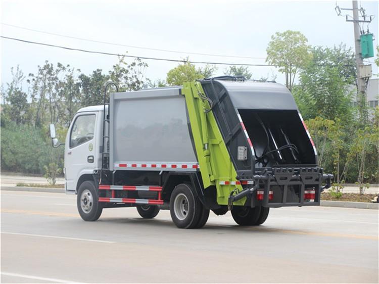 东风多利卡蓝牌3方压缩垃圾车多方位视角图片