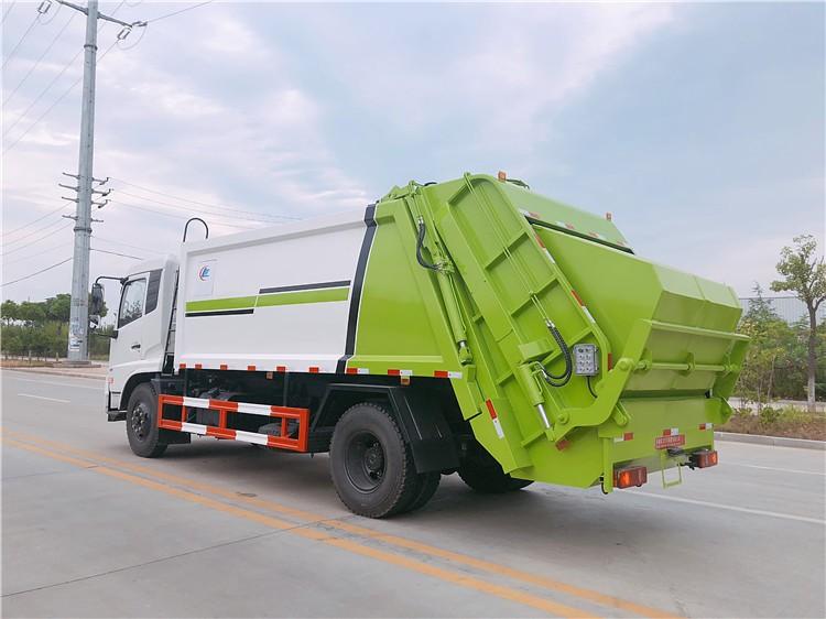 东风天锦10-12方压缩垃圾车多方位视角图片