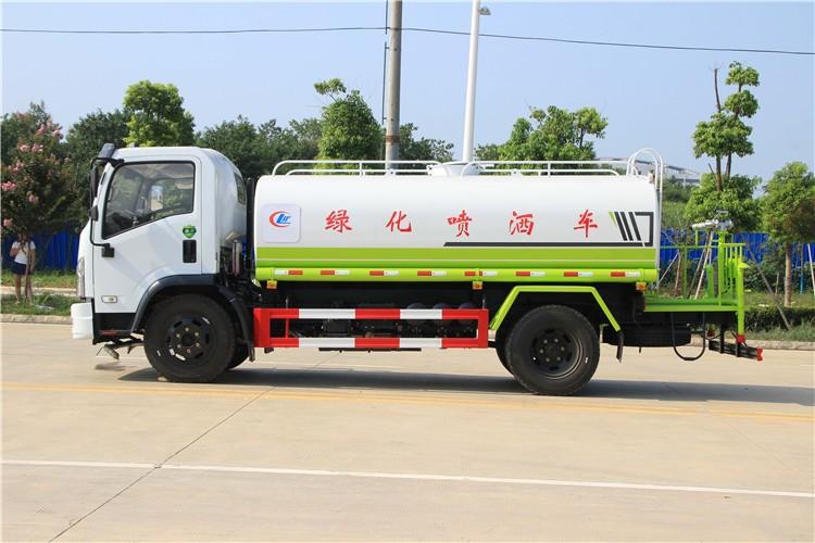 国六东风福瑞卡9吨洒水车多方位视角图片