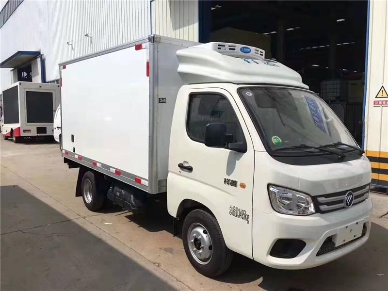 国六福田祥菱后双轮冷藏车厢长3.12米多方位视角图片