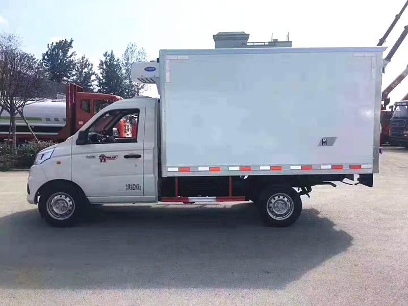 国六福田祥菱冷藏车厢长2.8米多方位视角图片