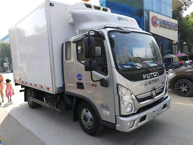 福田奥铃速运排半冷藏车3.7米多方位视角图片