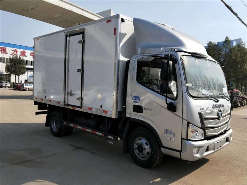 福田欧马可S3冷藏车厢长4.08米多方位视角图片