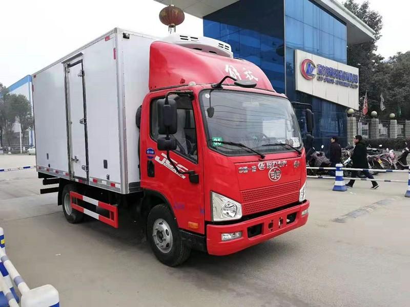 解放J6F冷藏车厢长4.13米多方位视角图片