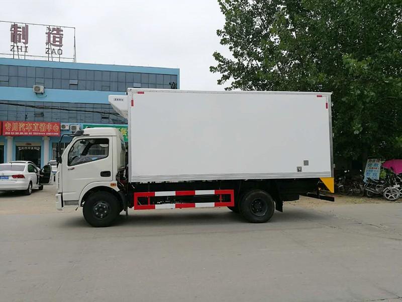 东风多利卡冷藏车厢长5.15米多方位视角图片