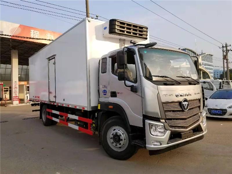 福田欧马可S5冷藏车厢长7.6米多方位视角图片