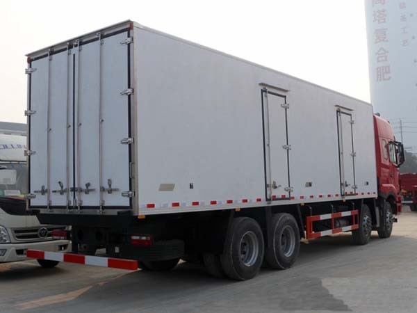 江淮格尔发前四后八冷藏车厢长9.45米多方位视角图片