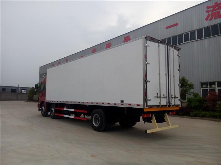 欧曼小三轴冷藏车厢长9.45米多方位视角图片